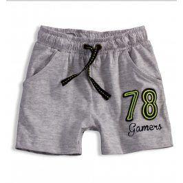 Chlapecké bavlněné šortky KNOT SO BAD GAMERS šedé Velikost: 92