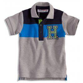 Dětské polo tričko MINOTI GREEN šedé Velikost: 86