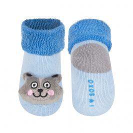 Kojenecké ponožky s chrastítkem SOXO KOČIČKA modré Velikost: 16-18