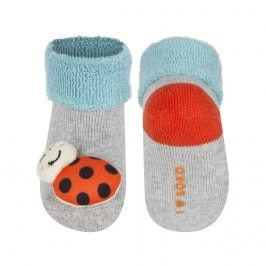 Kojenecké ponožky s chrastítkem SOXO BERUŠKA šedé Velikost: 16-18