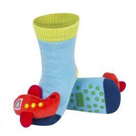 Ponožky s chrastítkem SOXO LETADLO modré Velikost: 19-21