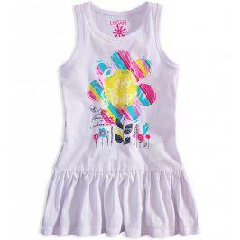 Dívčí bavlněné šaty LOSAN GARDEN bílé Velikost: 92
