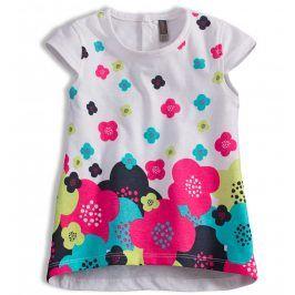 Tunika pro holčičky LOSAN KVĚTY bílá Velikost: 68