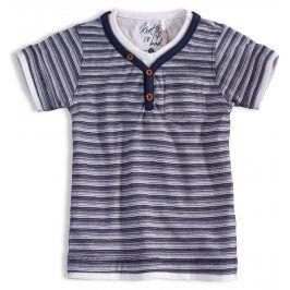 Chlapecké tričko KNOT SO BAD PROUŽKY modré Velikost: 92