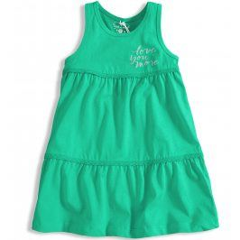 Dívčí šaty KNOT SO BAD LOVE YOU MORE tyrkysové Velikost: 128