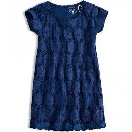 Dívčí krajkové šaty KNOT SO BAD tmavě modré Velikost: 128