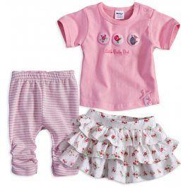 Kojenecká dívčí souprava DIRKJE LITTLE BABY růžová Velikost: 56