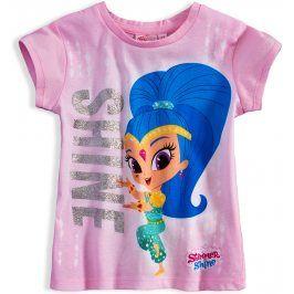 Dívčí tričko SHIMMER & SHINE SHINE růžové Velikost: 98
