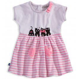 Dívčí šaty Mix´nMATCH CATS růžové Velikost: 92