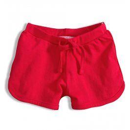 Dívčí bavlněné šortky KNOT SO BAD GIRL červené Velikost: 92