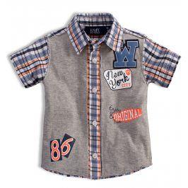 Chlapecká košile KNOT SO BAD NEW YORK oranžová Velikost: 92