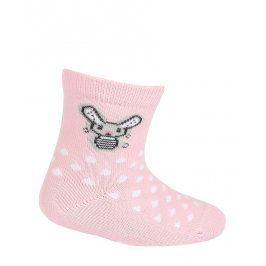 Dívčí ponožky GATTA ZAJÍČEK růžové Velikost: 15-17