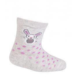 Dívčí ponožky GATTA ZAJÍČEK šedé Velikost: 15-17