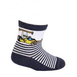 Chlapecké ponožky se vzorem GATTA FORMULE šedé Velikost: 15-17
