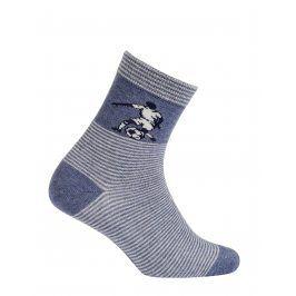 Chlapecké vzorované ponožky GATTA FOTBALISTA modré Velikost: 27-29