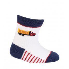 Kojenecké chlapecké ponožky WOLA NÁKLADNÍ AUTO bílé Velikost: 12-14