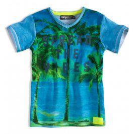 Chlapecké tričko DIRKJE SPREAD THE VIBE modré Velikost: 92