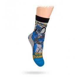 KREBO DISNEY vzorované ponožky POWER RANGERS Velikost: 21-23