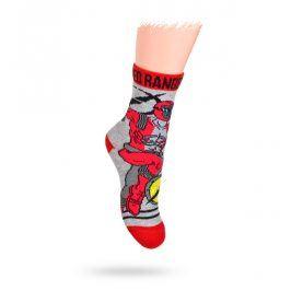 KREBO Dětské ponožky DISNEY vzor POWER RANGERS Velikost: 21-23