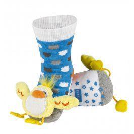 SOXO Ponožky s chrastítkem KUŘÁTKO Velikost: 19-21