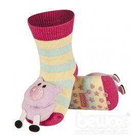 SOXO Kojenecké ponožky s chrastítkem PRASÁTKO Velikost: 19-21