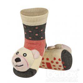 SOXO Ponožky s chrastítkem MÉĎA Velikost: 19-21