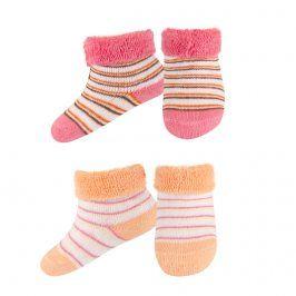 SOXO Kojenecké froté ponožky 2páry růžové