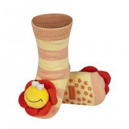 SOXO Ponožky s chrastítkem KYTIČKA Velikost: 19-21