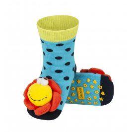 SOXO Ponožky s chrastítkem KYTIČKA modré Velikost: 19-21
