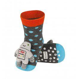 SOXO Ponožky s chrastítkem ROBOT Velikost: 19-21