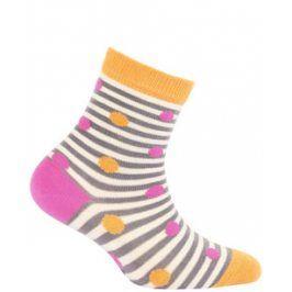 Dívčí vzorované ponožky WOLA PUNTÍČKY Velikost: 21-23
