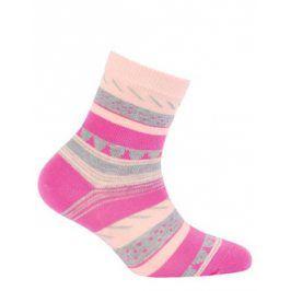 Dívčí vzorované ponožky WOLA Velikost: 21-23