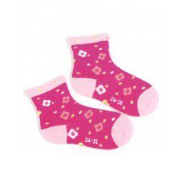 Dívčí ponožky se vzorem WOLA KYTIČKY Velikost: 21-23