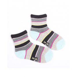 Dívčí ponožky se vzorem WOLA PRUHY Velikost: 21-23