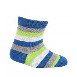 Dětské vzorované ponožky WOLA PROUŽKY modré Velikost: 12-14