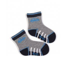 Kojenecké vzorované ponožky WOLA AUTO Velikost: 15-17