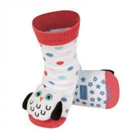 SOXO Ponožky s chrastítkem SOVA bílé Velikost: 19-21