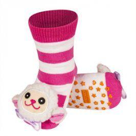 SOXO Ponožky s chrastítkem OVEČKA růžové Velikost: 19-21