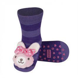 SOXO Ponožky s chrastítkem ZAJÍČEK fialové Velikost: 19-21