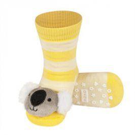 SOXO Ponožky s chrastítkem KOALA žluté Velikost: 19-21