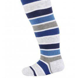 Vzorované kojenecké punčocháče WOLA TYGR modré Velikost: 62-74