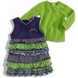 Kojenecké šaty a tričko DIRKJE FIINY GIRL zelená Velikost: 62