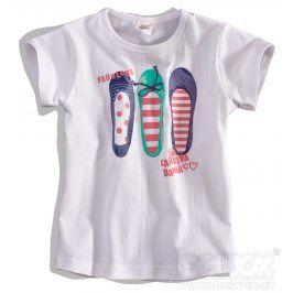 Dětské tričko DIRKJE FABULOUS bílé Velikost: 80