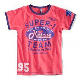 BOYSTAR Chlapecké tričko SUPER TEAM červené coral Velikost: 176