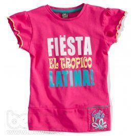 GIRLSTAR Dívčí tričko FIESTA růžové Velikost: 92-98