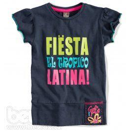 GIRLSTAR Dívčí tričko FIESTA tmavě modré Velikost: 92-98