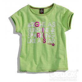 Dívčí tričko GIRLSTAR zelené Velikost: 92-98