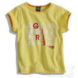 Dívčí tričko GIRLSTAR žluté Velikost: 92-98