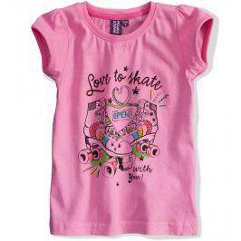 Dívčí tričko PEBBLESTONE Skate růžové Velikost: 104