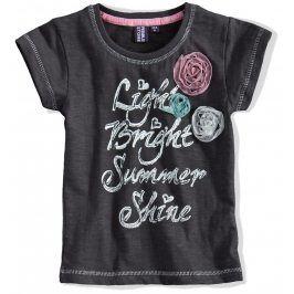 Dívčí tričko krátký rukáv PEBBLESTONE šedé Velikost: 92-98